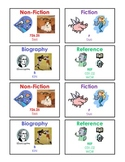 Fiction, Nonfiction, Biography, and Reference Cards