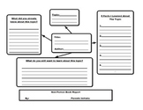 Fiction and Non-Fiction Book Report Templates