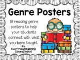 18 Fiction and Nonfiction Genre Posters for RLA (Reading/L