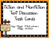 Fiction and Nonfiction Text Discussion Task Cards