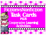Editable Fiction Or NonFiction Task Cards & Scoot Game