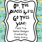 Field Trip Name Badges, Field Trips, Name Badges, Classroo