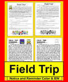 Field Trip Notice and Reminder-Ready to Edit