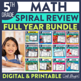 Fifth Grade Homework / Morning Work for MATH-WHOLE Year SP