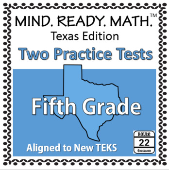 5th Grade Math STAAR and TEKS-aligned Test - REVISED