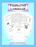 Figurative Language Chart and Student Worksheets