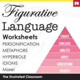 Figurative Language Independent Practice Worksheets Bundle