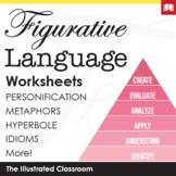 Figurative Language Independent Practice Worksheets Bundle