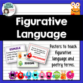 Figurative Language Posters & Words Wall Strips