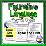 Figurative Language Practice Sheet