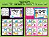 AREA and PERIMETER of irregular figure: Figure that?! BUNDLE PACK