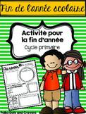 Fin de l'année scolaire (activité) (End of Year Activity)