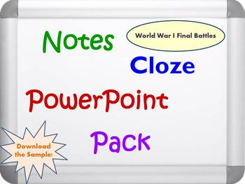 Final Battles of World War I Pack (PPT, DOC, PDF)