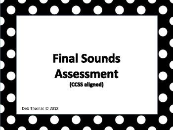 Final Sounds Assessment (ccss aligned)