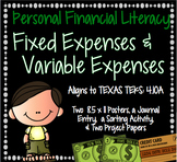 Personal Financial Literacy: Fixed and Variable Expenses