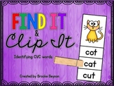Find It and Clip It - CVC words