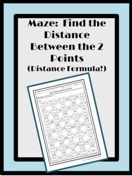 Find the Distance Between 2 Points: Maze