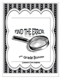 7th Grade Math Common Core Find the Error Activities for the Year