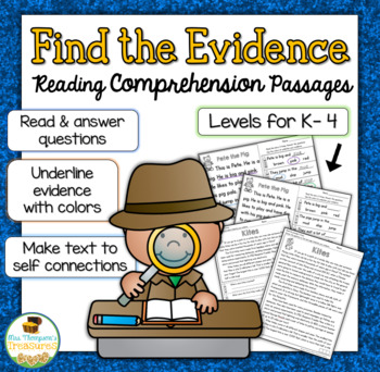 Find the Evidence - Reading Comprehension Pack