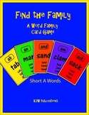 Find the Family - Card Game - Short A Word Family  - 10 pa