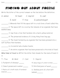 Science Finding Out About Fossils Worksheet - goes with PP