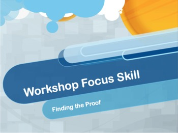 Finding Proof Reading Workshop Focus Lesson