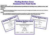 Finding Surface Area Geometry 3D Shapes Task Cards
