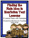 Finding the Main Idea and Details in Nonfiction Texts Less