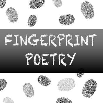 Fingerprint Poetry Writing Template Grades 4-12, Unique wr