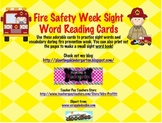 Fire Prevention Week Sight Word Reading Cards
