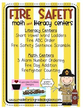 Fire Safety Math & Literacy Centers