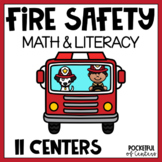 Fire Safety Math & Literacy Work Stations Packet