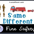 Fire Safety Month same and different