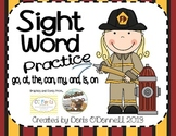 Fire Safety Sight Word Practice
