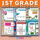 First 1st Grade Math Smart Board Game Pack