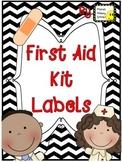 First Aid Kit Labels ~ Freebie