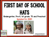 First Day Of Kindergarten 2014 Hat!