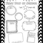 First Day Of School Activity Sheet