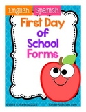 First Day of School Forms- Spanish