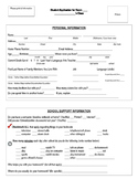 First Day of School Student Application