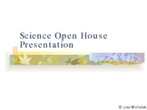 First Day of School and Science Open House PowerPoint Pres