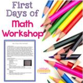 First Days of Math Workshop