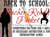 First Days of School Teacher Packet: Highschool Style