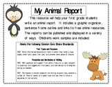 First Grade Animal Report