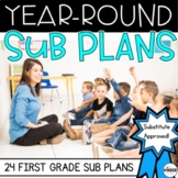 First Grade C.C Aligned Print & Go Sub Plans for the Year