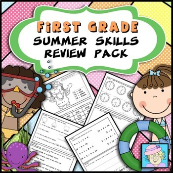 Summer Skills Review Pack for First Grade