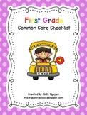 First Grade Common Core Checklist for Teachers
