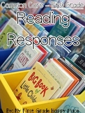First Grade Common Core Journal Reading Responses