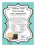 First Grade Common Core Math Assessment