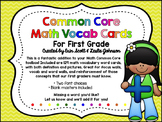 First Grade Common Core Math Vocabulary Cards